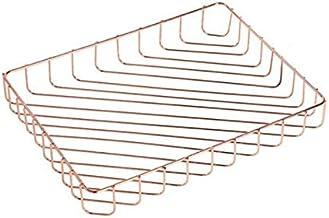 LXH-SH Basket Organisateur de rangement cosmétique en or rose du ruban métallique Panier de fruits Collection étagère pour...