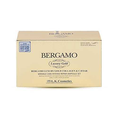 Bergamo - Luxury Gold & Caviar Intensiv Repair Ampullen Set - Kaviar Gesichtspflege Gel