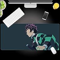 鬼滅の刃アニメマウスパッド,大灶门 炭治郎四角形 エッジをロックする じゃない-スリップ デスクトップ用マウスパッド-b 90x40x0.4cm