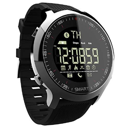 Relógio Lokmat smartwatch esportivo masculino, smartwatch à prova d' água com pedômetro, bluetooth e lembrete de mensagem, para natação e área externa, celular ios e android (Preto)