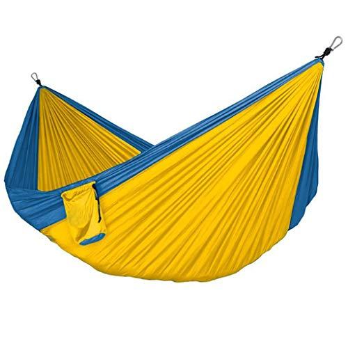 Columpio Jardín Solicitud de Hamaca de Doble al Aire Libre 125.9x78.7 Pulgadas Nylon Paño para paracaídas Portátil Hamaca de Ocio Viaje de Ocio Camping Hammock Swing Asiento Columpio (Color : D)