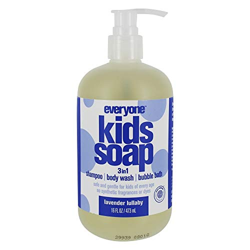 Eo All Purpose Soaps Everyone Kids Soap 3 In 1 Shampoo Body Wash & Bubble Bath Lavender Lullaby, 16 Oz -  233616