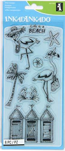Inkadinkado Flamingo Fun Stempel-Set für Kartenherstellung und Scrapbooking, 8 Stück
