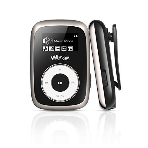 Walkercam M2 Clip Lettore MP3 con Radio FM, Lettore Musicale da 8 GB per Corsa, Nero