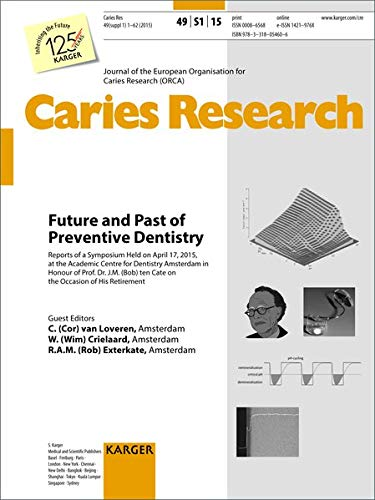 Future and Past of Preventive Dentistry: Symposium Held at the Academic Centre for Dentistry Amsterdam, April 2015, to Honour of Prof. Dr. J.M. (Bob) ... Caries Research 2015, Vol. 49, Suppl. 1