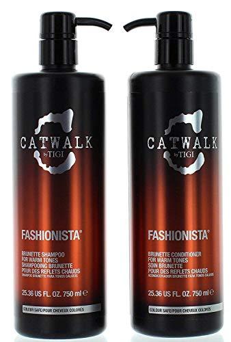 Tigi Catwalk Fashionista Brunette Shampoo and Conditioner, 25.36 Ounce Each
