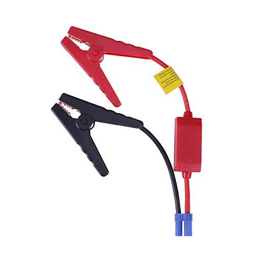 LIOOBO 12V Car Jump Starter, Car Emergency Start Power Cable Clamp Storage Battery Anti-Reverse Clip EC5