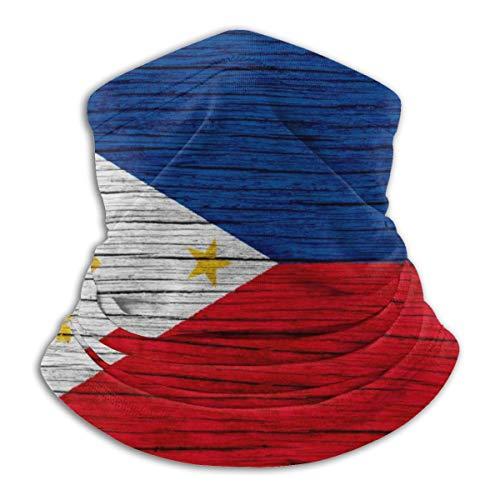 Philippines Wooden Texture Philippine Flag Filipino Bandana Face Dust Mask for Women Men Half Headband Head Wrap Scarf Balaclava Clothes Dress Cap Clothing Accessories Head Wrap Apparel