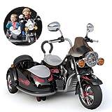 MMYYIP Kinder Elektro-Motorrad Zweisitziges Dreirad Kind Batterie Spielzeugauto, Jungen Und Mädchen...
