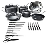 Granitestone 2609 Cookware, Pots and Pans, Knife Set, Scratch-Resistant, Nonstick...