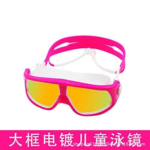 MHP Waterdicht en mist-proof zwembril fabrikant directe verkoop van hoogwaardige kinderen zwembril spot groothandel maatwerk Powder white - gold plated