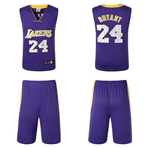 Wsaman Chaleco de Baloncesto, Camiseta de Baloncesto para Hombres Jerseys, Chaleco de Baloncesto Transpirable Bordado Ropa de Entrenamiento para Hombres Camiseta de Baloncesto para Hombre,Púrpura,3XL