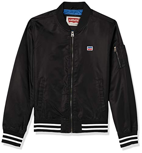 Levi's Men's Retro Varsity Bomber Jacket, Black, Medium