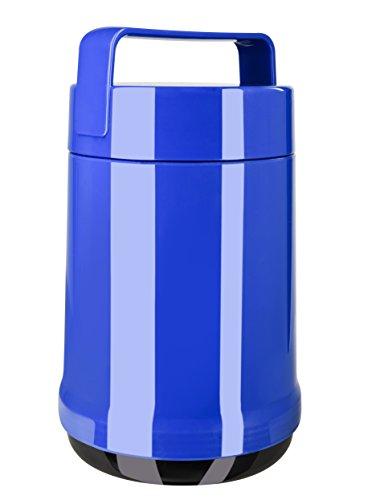 Emsa 514535 Isolier-Speisegefäß, 1,4 Liter, Mit 2 Speiseeinsätzen, 100% dicht, Blau, Rocket