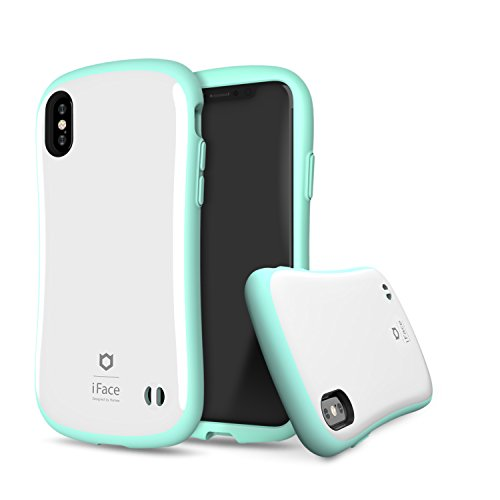 iFace [First Class Pastel Border Series] Hard Case with Embedded Magnetic Plate [Car Mount Compatible] [Military Drop Test Certified] for Apple iPhone X, XS - Mint Green