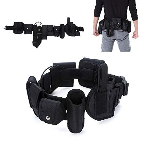 YAHILL® Polizei Security Taktischer Gürtel Militär Koppel Combat Tactical Police Belt Gear Nylon Heavy Duty, oder Handschellen-Halfter