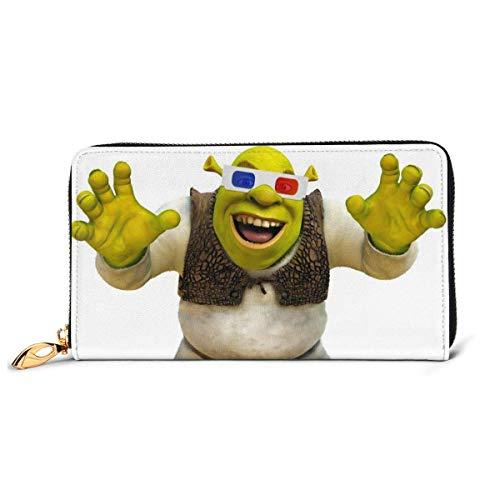 Shrek Musical Wallet Bloing Genuine Leather Wallet Zip Around Card Holder Organizer Clutch Wallet Large Caity Purse Phone Bag