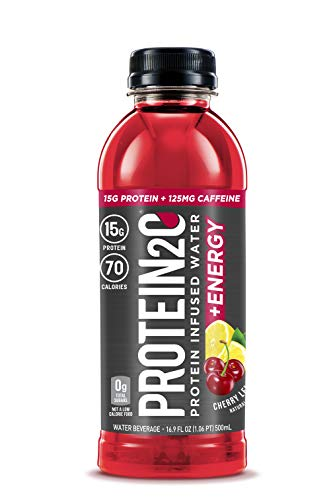 Protein2o 15g Whey Protein Infused Water Plus Energy Cherry Lemonade 169 oz Bottle Pack of 12
