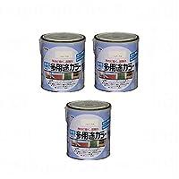 アサヒペン 水性多用途カラー 1.6L バニラホワイト 【まとめ買い3缶セット】