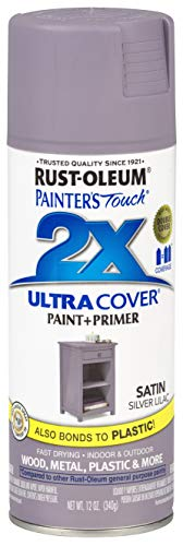 Rust-Oleum 329201 Painter's Touch 2X Ultra Cover, 12 Oz, Satin Silver Lilac