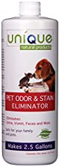 Eliminate all of your pet stains and odors on any surface that won't be damaged by water Natural cleaning product Product is safe and it works, plain and simple Guaranteed to remove pet related stains and odors Size: Quart