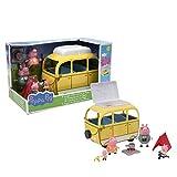 Peppa Pig, Le Camping-car avec Tente et 4 Personnages, Figurines FamIlle en Tenue de Vacances, Vélos, Feux de Camps & Accessoires, Jouet pour Enfants dès 3 Ans, PPC46