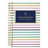 2021 Taschenkalender Simplified by Emily Ley für AT-A-Glance, wöchentlich und monatlich, 8,9 x 15,2 cm, Taschengröße, dünne Happy Stripe (EL50-300)