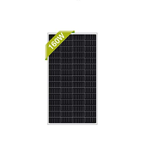Newpowa 160 Watt Monocrystalline 160W 12V Solar Panel High Efficiency Mono Module RV Marine Boat Off Grid