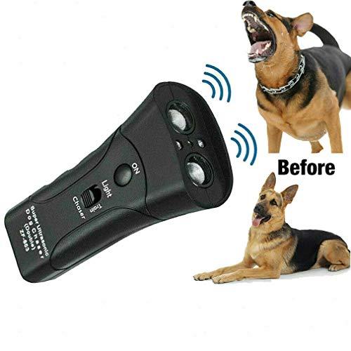 Bastex Ultrasonic Anti Dog Barking Pet Trainer LED Light Gentle Chaser Style