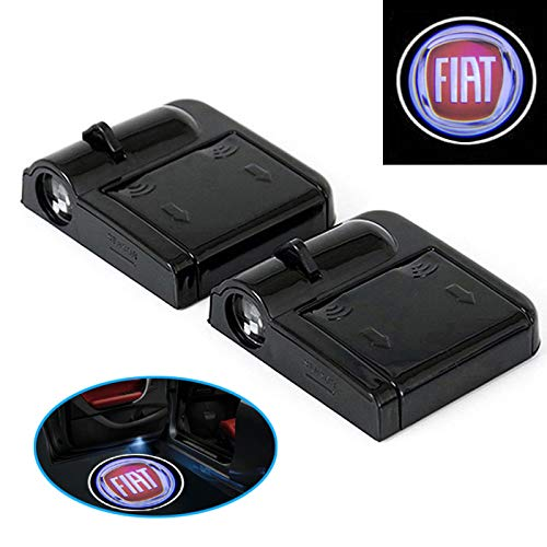 E18 2 Stück Wireless Auto Tür Licht LED Willkommen Projector Logo passend für Auto FIAT