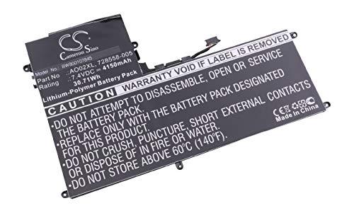 vhbw Batterie remplace HP 728558-005, AO02XL pour Tablette Tablet (4150mAh, 7,4V, Li-Polymère)