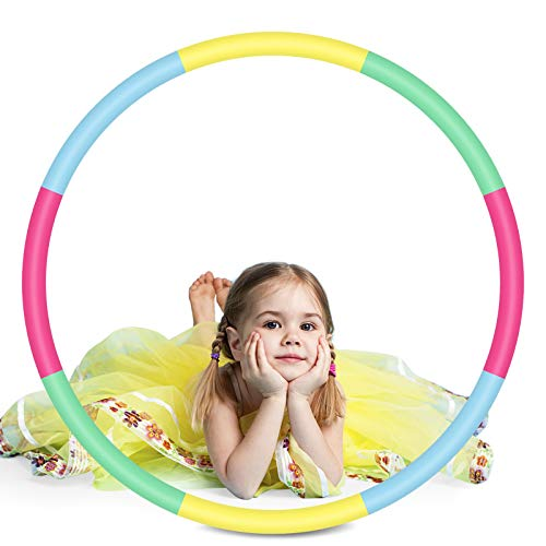 2Buyshop 1 Pack Hoola Hoop Kinder, 8 Abschnitt Fitness Hoola Hoop Fitness Hoola Hoop Reifen zur Gewichtsreduktion und Massage, Abnehmbarer Hoola Hoop Reifen für Erwachsene, Indoor & Outdoor
