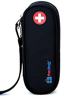 PracMedic Bags EpiPen Carrying Case, Compact - Holds 2 EpiPens or Auvi-Q and Asthma Inhaler - Immediate Access to Allergy Medications During Emergency Situations for Kids and Adults (Black)