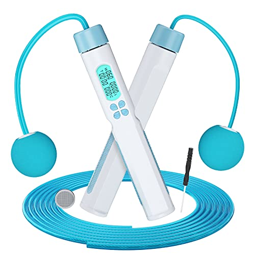 Dual Mode Skipping Rope, Speed Jump Rope with LED Digital Calorie Counter,...
