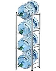 4-Tier Water Bottle Holder Shelf Cooler Jug Rack, Detachable Heavy Duty Water Bottle Cabby Rack, 5 Gallon Water Bottle Storage Rack (B)