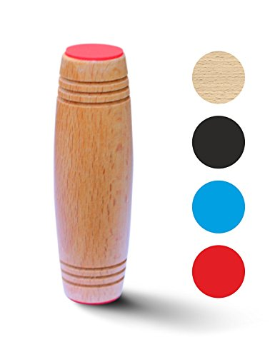 Fidget Rolling Stick: Top Quality Spinning Fidget Toy Best Office Toy For Stress Flip Table Toy (Wooden)