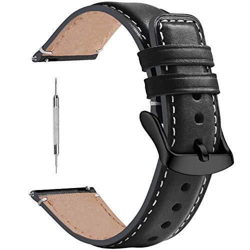 Cinturino in Pelle per Orologio 22mm, Fullmosa Yola Cinturino Comapatibile Con Huawei Watch GT/GT 2 46mm, Amazfit GTR 47mm, Amazfit Stratos/Nexo