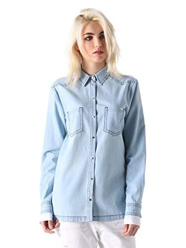 Diesel C-LUT-A Camicia Damen Bluse Jeanshemd Denim (Blau, S)