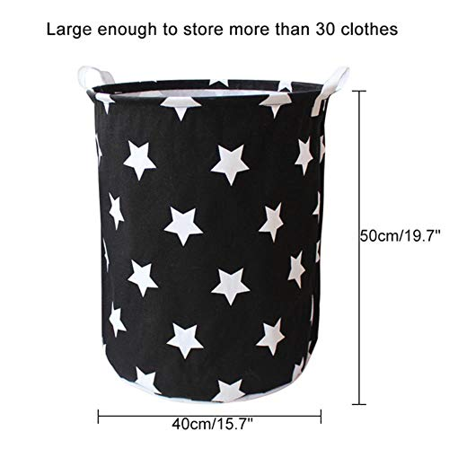 NKT Canvas Waterproof Laundry Organizer Basket Large Capacity Laundry Hamper Dirty Clothes Storage Bag,O