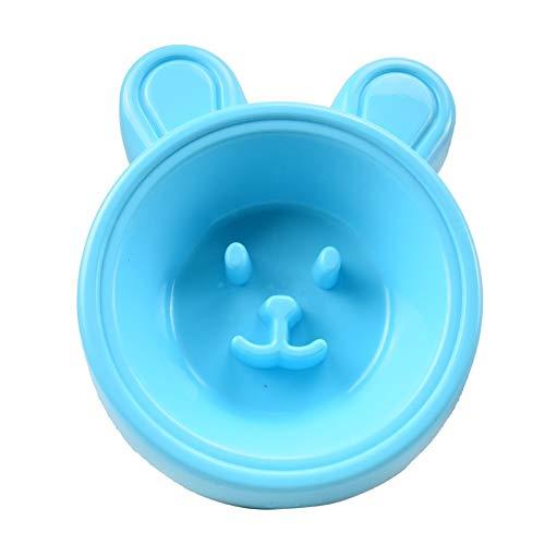 nobrand Slow Food Bowl Dog Anti-Naschen Hund Basin Cat Bowl Tierbedarf Hund Katze Pet Bowl Einzel-Bowl Haustierprodukte (Color : Blue)