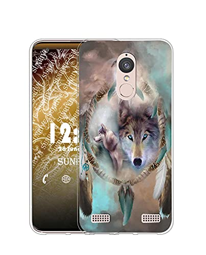 Sunrive Case compatible with Lenovo K6 / K6 Power, Ultra Slim Transparent Soft Premium TPU Silicone Back Rubber Bumper Protector Cover Case(Q Wolf 5)