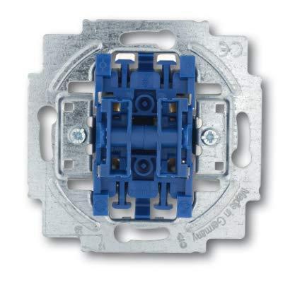 Busch Jäger Reflex SI alpinweiss Steckdosen Schalter Rahmen Wippen (2000/4 US Jalousieschalter-Einsatz 1-polig für Jalousiesteuerung/Zeitschaltuhren, 1 Stück)