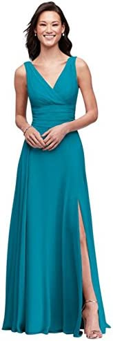 Surplice Tank Long Chiffon Bridesmaid Dress Style F19831 Oasis 8 product image