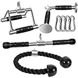 DYNASQUARE Combo Tricep Press Down Cable Attachment, LAT Pulldown Workout, Weight Machine Home Gym...