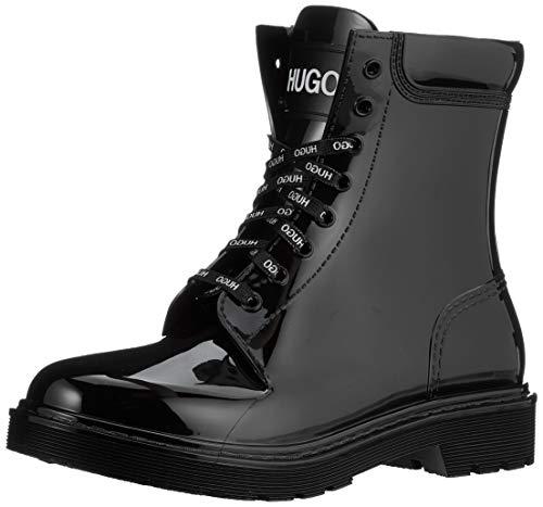 HUGO Damen Gamma LaceUp B-RB Mode-Stiefel, Black1, 40