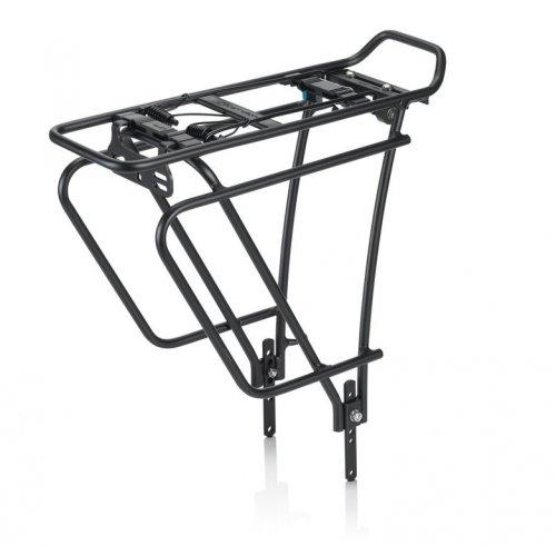 XLC Unisex– Erwachsene Gepäckträger Carry More RP-R11, Schwarz, One Size