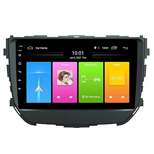 Kilcvt Navegación De Video para Automóvil De 9 Pulgadas Android 10 para GPS Radio Estéreo, para Suzuki Brezza 2016-2018 Soporte Control del Volante/Llamadas Manos Libres Bluetooth,4g WiFi: 2g 32g