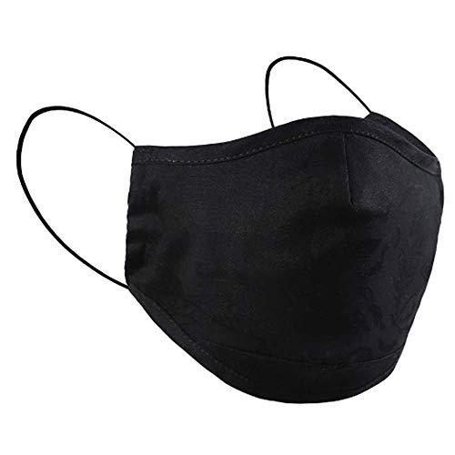 Just Black - Extra Large Hochwertige Gesichtsmaske Maske waschbar Alltagsmaske