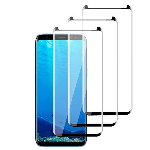 OUJD [3 Piezas] Protector de Pantalla para Samsung Galaxy S8 Plus, Transparente...