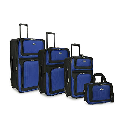 This is a four piece royal blue luggage set at an incredible low price. Three cases and one carry on bag great value for those on a budget.